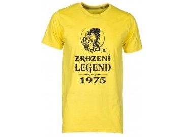Pánské tričko s potiskem ZROZENÍ LEGEND se znamením zvěrokruhu Blíženci  žlutá 830e959936