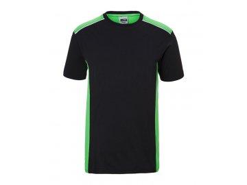Pracovní tričko s kontrastními doplňky černá