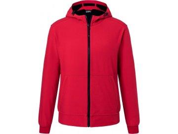 Pánská softshellová bunda ve sportovním vzhledu mikin olive