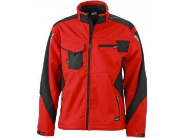 Odolná PRACOVNÍ lehká softshellová bunda červená