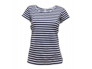 Dámské námořní tričko modrá