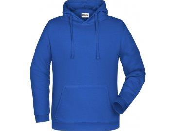 mikina klokanka s kapucí modrá královská