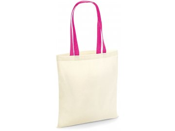 Bavlněná plátěná nákupní taška růžová