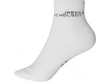 Klasické krátké ponožky z Bio Bavlny bílé