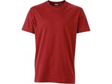 Pánské odolné tričko ze směsi materiálů vínová