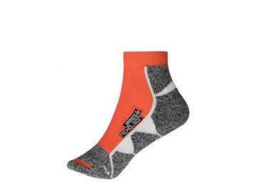 Krátké funkční ponožky pro sport oranžové