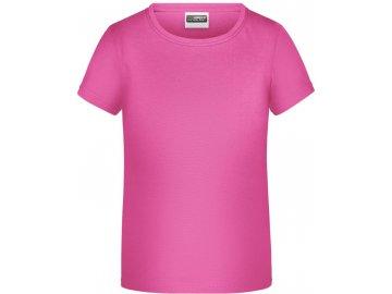 Dětské tričko pro dívky od velikosti 98 růžová