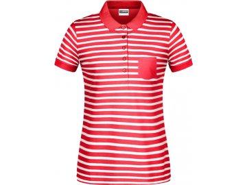 Dámská polokošile v námořním stylu z Bio bavlny červená