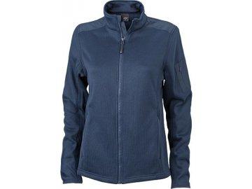 Dámská bunda Knitted Fleece Jacket (Barva Modrá námořní - Modrá námořní, Velikost oděvů XXL)