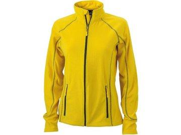 Dámská bunda Structure Fleece Jacket (Barva Žlutá - carbon, Velikost oděvů XXL)