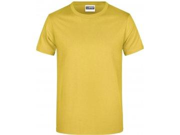 Klasické pánské bavlněné tričko žlutá