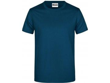 Klasické pánské bavlněné tričko petrolejová