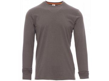 Pánské triko s dlouhým rukávem šedá kouřová