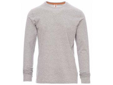 Pánské triko s dlouhým rukávem šedý melír