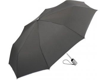 kvalitní skládací deštník s automatickým otevíráním a zavíráním přes jedno tlačítko šedá