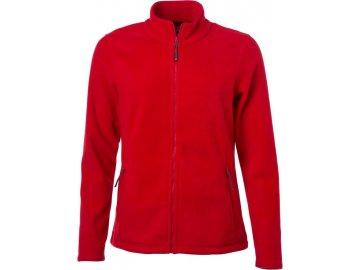 Dámská microfleece bunda na zip. červená