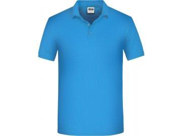 Pánská pracovní polokošile klasického střihu v mixu materiálu (BIO bavlna + polyester) modrá