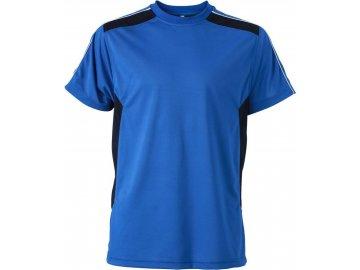 Pánské tričko s ionty stříbra, antibakteriální a antistatickou úpravou.royal