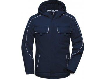 Profesionální pracovní softshellová bunda modrá námořní
