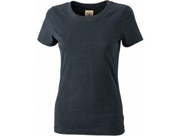 Dámské přiléhavé stylové tričko v retro vzhledu černá