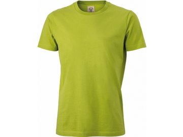 Pánská zúžené stylové tričko v retro vzhledu limetková