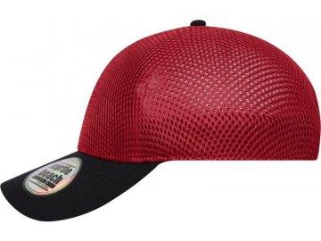 Bezešvá síťovaná kšiltovka červená