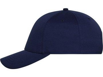 6 panelová prodyšná sportovní čepice námořní modrá