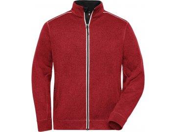 Pánská pracovní bunda, mikina z pleteného fleecu Solid červená