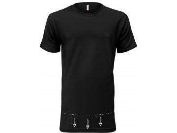 Kvalitní extra dlouhé tričko černé
