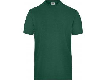 Pánské Bio pracovní tričko s elastanem Solid zelená