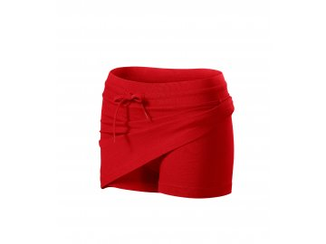 Dámská krátká sukně s všitými kraťasy červená
