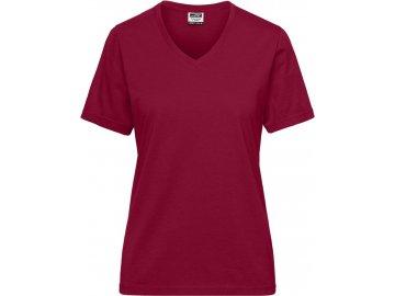 Dámské odolné tričko s Bio bavlnou vínová