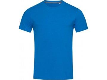 Pánské elastické tričko užšího střihu  modrá