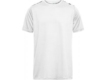 Pánské sportovní tričko Sports s potiskem ramen z recyklovaného polyesteru bílá