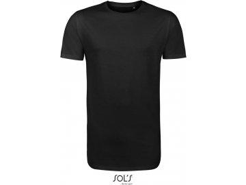 Pánské dlouhé tričko pro vyšší postavy černá