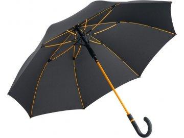 Deštník s automatickým otvíráním antracit oranžová
