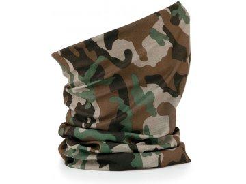 Prodyšný multifunkční nákrčník, šátek camouflage