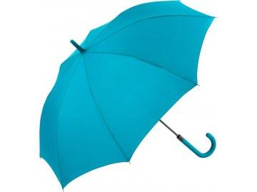 Deštník s automatickým otvíráním se zahnutou rukojetí petrol