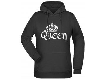 Dámská mikina s kapucí Queen černa