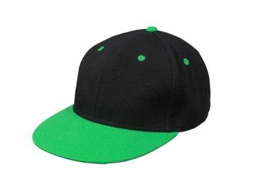 Kšiltovka s rovným kšiltem Snapback černá zelená