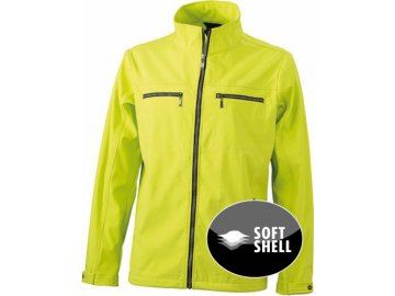 Pánská softshellová bunda v elegantním designu žlutá