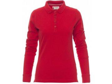 Klasická kvalitní dámská vyštíhlená polokošile s dlouhým rukávem červená