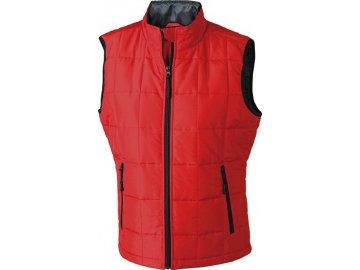 Lehká dámská funkční vesta na zip s teplým materiálem Thinsulate  červená