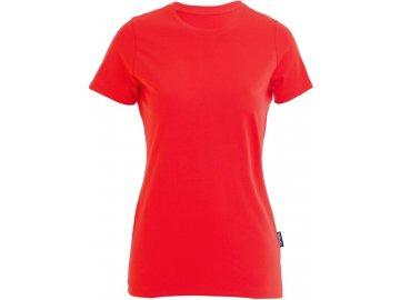 Odolné dámské tričko z Bio bavlny do velikosti 5XL červená