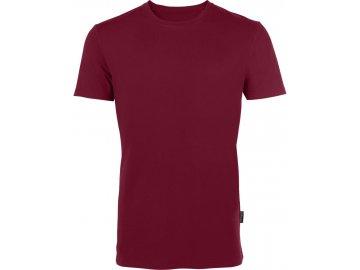 Odolné pánské tričko z Bio bavlny do velikosti 5XL bordó