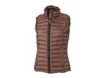 Dámská vesta Quilted Down Vest (Barva Červená - černá, Velikost oděvů XXL)
