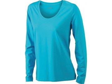Dámské triko Stretch Shirt Longsi (Barva Žlutá, Velikost oděvů XXL)