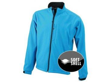 Trendy pánská 3 - vrstvá softshellová bunda modrá