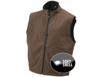 Pánská funkční softshell vesta (Barva Červená, Velikost oděvů XXL)
