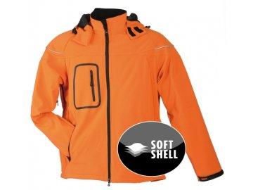 Pánská zimní Softshell bunda (Barva Červená, Velikost oděvů XXL)